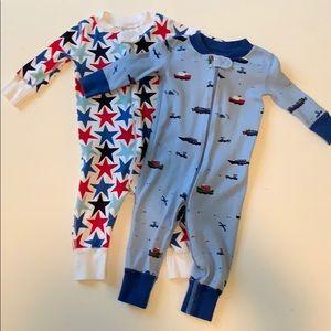 Hanna Andersson Pajamas - 2 pairs of Hanna Andersson pajamas size 60 6-9mons